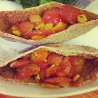 Curry Spiced Hotdog Pitas